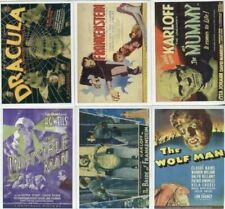 Universal Monsters of the Silver Screen Poster Sticker Card Set 10 Stickers