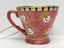 Mary Engelbreit Christmas Spice Tea Cup Ornament 1999