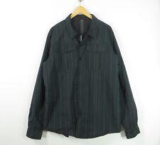 Lululemon black grey insulated buttoned shirt jacket Reflective stripes XXL
