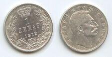 G8647 - Serbien 1 Dinar 1912 KM#25 Silber Peter I.1903-1918 Republika Srbija
