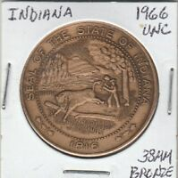 *(P)  Token - Indiana - 1966 UNC - 38 MM Bronze