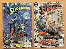 Adventures of Superman #465 & #466 1st Cyborg & Eradicator 1990 key lot of 2