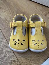 Baby Girls Clarks Shoes BNIB Yellow Size 2.5G