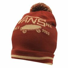 MENS WOMENS RED VANS SKATER SKATEBOARDING WOOLLY BEENIE BEANIE BOBBLE HAT