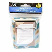 Jot Colorful Chevron Stripes Mini Clipboard Notepad 40 Sheets 3.25in x 3.50in