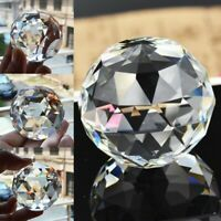 Clear Crystal Sphere Faceted Gazing Ball Prism Suncatcher Home Decor Lot 25-80MM