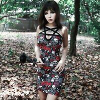 Rob Zombie Dress, Pentagram, Gothic, Skull, Clubwear, UK Seller, BNWT