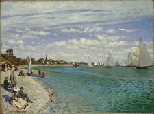 Claude Monet, 1867 Regatta at Sainte-Adre Canvas Prints  Framed & Ready to Hang