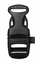 "New 10 Pack Black 5/8"" Paracord Bracelet Buckle w/ Built-In Survival Whistle"