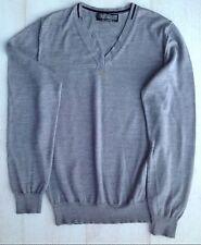 Topman grey v-necked jumper, size S