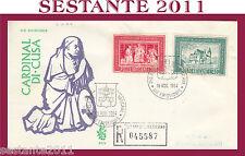 VATICANO FDC VENETIA 83 V CARDINAL DI CUSA CUSANO CUSANI 1964 (240)