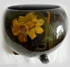 McCoy art pottery jardiniere with painted flowers - circa 1905 - FREE SHIPPING