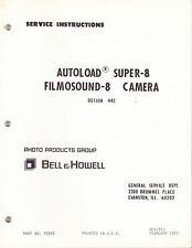 BELL & HOWELL SERVICE MANUAL for MODEL 442 SUPER 8 CAMERA - 1970