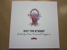 Personalised Handmade Female Retirement Card