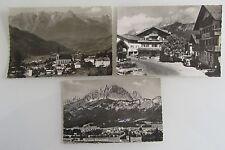 3x St. Johann Tirolo Austria S/W cartoline lot CON FRANCOBOLLI TIMBRATI