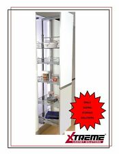 Pull Out Larder Tall Unit with 5 Baskets- for 400mm Cabinet- Soft Close