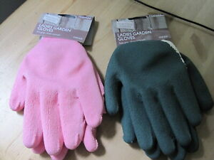 2 Pairs Ladies Gardening gloves Sure Grip & Thorn resistant one size
