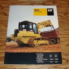Original 1999 Caterpillar 963C Track Loader Sales Brochure 99 Cat