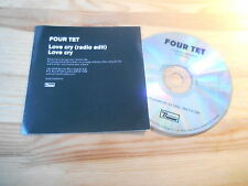 CD Indie Fourtet - Love Cry (2 Song) Promo DOMINO REC
