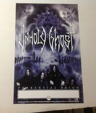 OOP! CD lp album UNHOLY GHOST PROMO POSTER 17x11. rock heavy music rocking