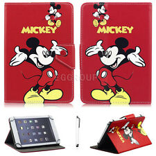 "Universal Mickey Minnie PU Leather Case Cover For Various 9.7"" 10"" 10.1'' Tablet"