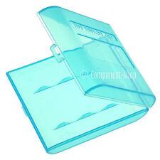 Confezione di 4 Blu VALIGETTE portaoggetti per 4x AA O BATTERIE AAA