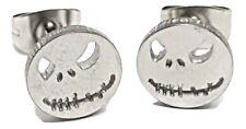 Jack Skellington Nightmare Before Christmas Stud Face Surgical Steel Earrings