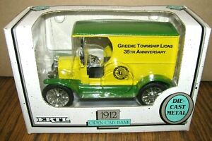 Ertl 1:25 GREEN TOWNSHIP LIONS 35th Anniv 1912 Ford Open Cab Car Truck Bank Toy