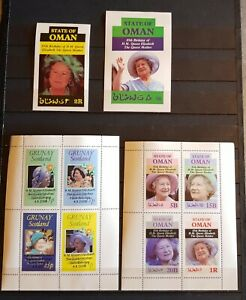 WW QUEEN ELIZABETH 2 BLOCKS & 2 SHEETS &2 SHEETS OVERPRINT PERFORED &IMPERF. MNH