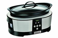 Crock-Pot Slow Cooker 5.7 Litre - Polished Stainless Steel NEW