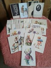 Konvolut 27 Grußkarten aus dem 50er Jahren