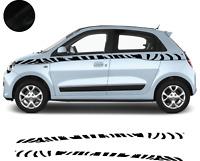 Renault Twingo - Bandes  Zèbres Stickers adhésifs décoration - couleur au choix
