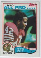 "1982 TOPPS RONNIE LOTTI ""NFC ALL-PRO"" RC #486 SAN FRANCISCO 49'ERS SHARP"