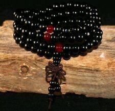Mala 108 Beads 8mm Sandalwood Buddhist Buddha Prayer Bead Bracelet Beaded Knot