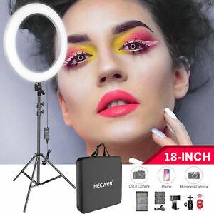 Neewer 18-inch LED Ring Light Kit for Makeup YouTube Video Salon - Adjustable