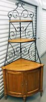 Ethan Allen Corner Cabinet  Legacy / Country French Baker's Rack Wrought Iron