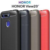 COVER per Huawei Honor View 20 V20 CUSTODIA Morbida ORIGINALE CARBON Case