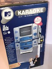 "2002 MTV THE SINGING MACHINE STVG-700 KARAOKE W/ 7"" BUILT IN SCREEN  NIB"