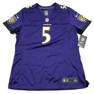 NEW Nike Joe Flacco Baltimore Ravens Football Jersey Women's Size Large L Purple