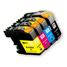 4PK Ink Cartridge Set + chip for Brother LC201 LC203XL MFC J460DW J480DW J485DW