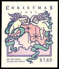 Christmas 1991 $7.60  (20x38c)  Perf margin version  Ret: $12.00  • FREE POST
