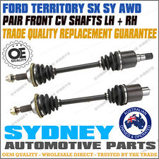 2 Front CV Joint Axle Drive Shaft Ford Territory SX SY AWD 2004 - 2011 LH & RH