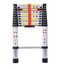 10.5 ft Aluminum Telescopic Multi Purpose Ladder with Spring Load