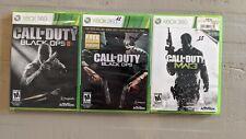 Call Of Duty Bundle XBox 360 / Black OPS / Black OPS II / MW3 / 3 Games / 2 NEW
