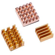3Pcs/set Raspberry Pi 4B Copper Cooling Pad Heatsink Radiator Cooling Kit_GG