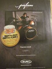 Every Time I Die, Mike Novak, Mapex Drums, Full Page Promotional Ad