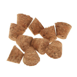 10x Tapered Natural Cork Bottle Stoppers Wine Bottle Plug 21   x 20mm