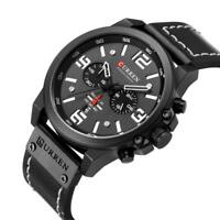 Curren's Men's Watch Alloy Quartz Sport Business Digital Waterproof Wristwatches