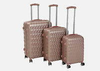 Hard shell Trolley Suitcase 4 Wheel Spinner Lightweight Luggage Travel Rose Gold