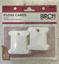 Birch Plastic Floss Bobbins Cards Pack of 25 - Thread Organiser Cross Stitch